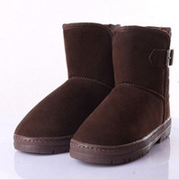Wholesale 2012 Women and Men s Fashion Boots High Quality Pure Color Boots Unisex Snow Boots