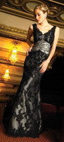 5 Black Sheath Column Spaghetti strap Floor length waist Fol...