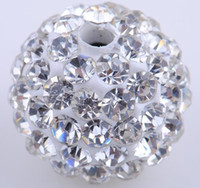 Wholesale 200pcs Mixed color mm clay crystal ball disco ball crystal beads