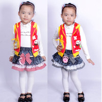 Wholesale Girls childen thicken skirts Plaid Cloth Edge of the Dot denim thicken skirt dandys