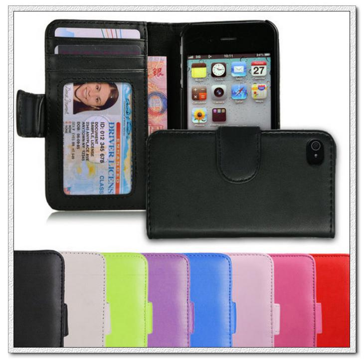Buy Leather ID Wallet Case Cover iPhone 4 4S 1