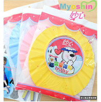 Wholesale Baby Child Kid Shampoo Bath Shower Wash Hair Shield Hat Cap Yellow Pink Blue dandys