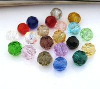 Wholesale Glass bead Round Crystal Beads MM mix colour crystal bead