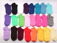 Wholesale New women s Boat socks ankle sox Floor socks cotton socks mix color sd455