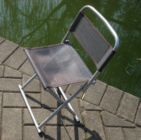 Wholesale New Outdoor Camping Fishing Ultra light Aluminum frame Seat folding Stool chair