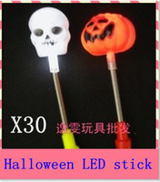 Wholesale Multi color hot glow stick led color flashing bones and pumpkin lighting flash sticks festival item