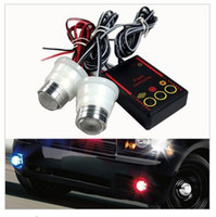 Wholesale Car explosion flash super Hawkeye Strobe car decorative lights lens LED spotlights fog lights mo