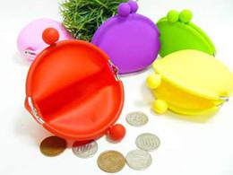 Promotion Silicone Coin Purse belle pièce sac Silicone argent sac Puse Style japonais pièce Wallet #7084