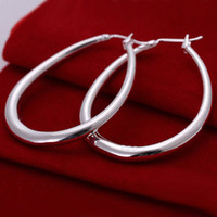 Wholesale E080 Silver Women s Bling Hoop Earring Fashion Earring Brand New