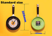 Wholesale New cute Creative wall clocks fried eggs pan shaped wall clock colors to choose Novelty clock