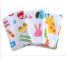 Baby bath towel super soft cotton double layer blanket bed gauze material Soft 10pcs lot #2242