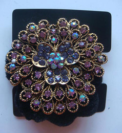 Wholesale Vintage Hair Jewelry Pony Tails Holder Rhinestone headbands hair accessories mixed color R