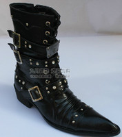 Knee Boots Rivet Boots Men new product men High help leather boot Winter warm Leather shoes British Style