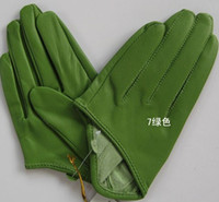 Wholesale 20pairs SEX AND THE CITY half palm black leather gloves Trend finger half PU leather glove