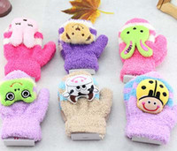 Wholesale Children Mittens Winter Gloves Girls Kids Gloves Boys Mitten Gloves Cotton Warm Gloves Knit Gloves