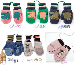 Wholesale Children Mittens Kids Gloves Knitting Wool Children Gloves Boys Mittens Knit Girls Gloves