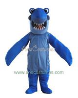 Occupational amusement carnival - new blue shark mascot costume party costumes sea animal mascot suit fancy custoized mascot dress amusement park outfit