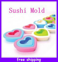 Wholesale Cute Heart Shaped Love Sandwich Maker Breads Rice Cookie Sushi Mold Toast Cutter Bento