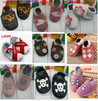 Boy (18-24M) 19 yards Multi-Color Leather Baby Soft Sole Walking Shoes Zoo Newborn Infant Owl Leather shoes Toddler First walker Shoes