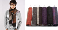Wholesale Men s Long Scarf Winter Warm Wool Cashmere Stripes Unisex Scarves Outdoor Wear Men s Accessories