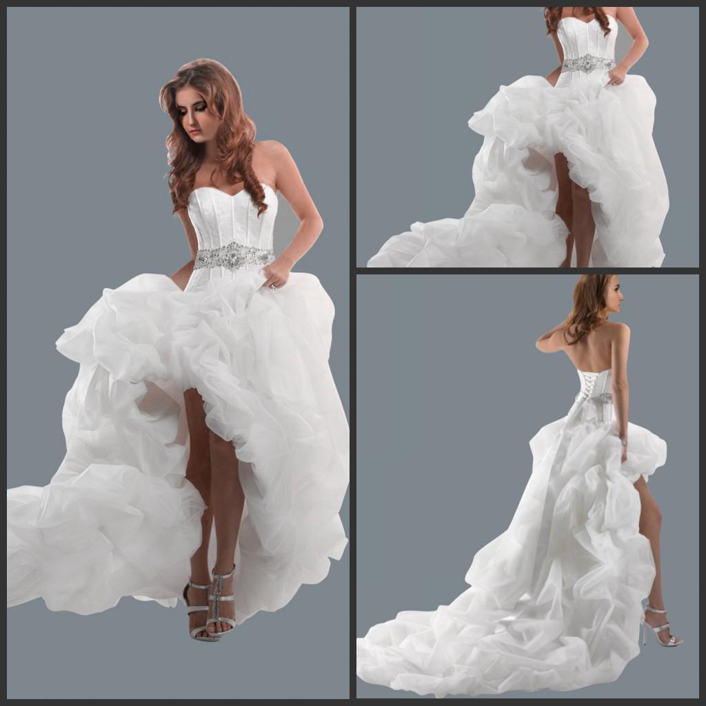 Hot Sell Sweetheart Empire Wedding Dress 2015 y Hi Low