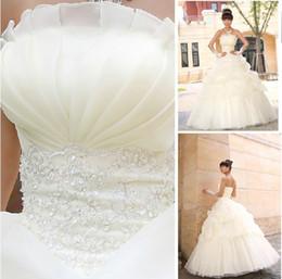 Wholesale 2014 Newest Style Lovely layers Bridal Princess Wedding Dress LACE UP