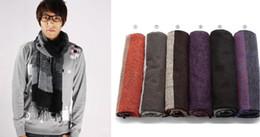 Masculina Scarf Longo Inverno Quente Lã Cashmere Stripes Unisex Lenços Outdoor desgaste dos homens Acessórios Nova