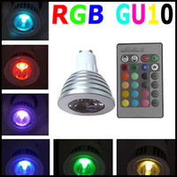 Wholesale Hot Sale LED Spotlight GU10 W IR Wireless Remote Control Color Change RGB Spot Light Lamp Bulb