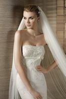 Wholesale Designer Tulle Cathedral Length Train Bridal VEILS Custom Made Chapel Simple Wedding Veil for Brides on Sale Popular