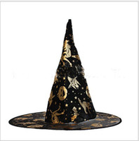 Wholesale Supply Christmas Supplies Halloween hat Halloween hat sorcerer witch hat Shamao