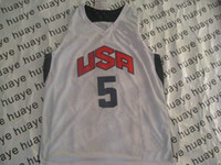 Wholesale 2012 USA Olympic Basketball Game Jerseys White Home Jersey Hot Sell Size S M L XL XXL XXXL