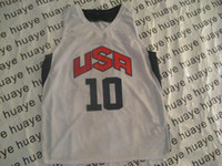 Wholesale 2012 USA Olympic Basketball Game Jerseys White Home Jersey Stars Jersey Size S M L XL XXL XXXL
