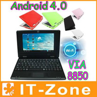 Wholesale 7 quot VIA Mini Laptop Netbook PC Notebook Android HDMI Cortex A9 GHz GB Skype Webcam