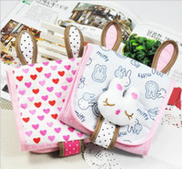 Fabric Convenient , confidential Eco Friendly Creative New Girl's Health Cotton Receive Bag Lovely Rabbit Sanitary Napkin Package Free Shipping