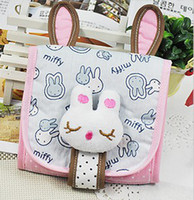 Fabric Convenient , confidential Folding Creative New Health Cotton Receive Bag Lovely Rabbit Sanitary Napkin Package MM Illicit Close Bag