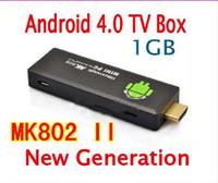Cheap MK802 II Mini PC Smart USB TV BOX Google TV Youtube A10 RAM 1GB 4GB Android 4.0 Dongle 5pcs lot