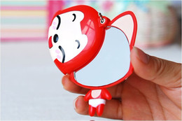 Wholesale fashion cute pocket mirror latest Portable cartoon style makeup Mirror