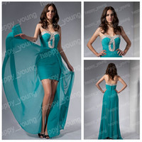 Wholesale REAL DESIGN Post Within Days Chiffon Beach Evening Dress Prom Dresses Party Gowns