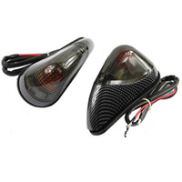 Wholesale 1 Pair Smoke Front LED Turn Signals Light For Kawasaki Ninja EX