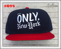 Wholesale Only NY Hats Mens Black Red ONLY New York Snapbacks Best Ball Hats Adjustable Caps High Quality