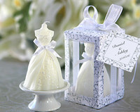 Romantic Bridal veil Candles Wedding Candles  candellight di...