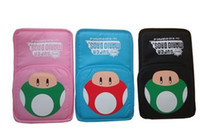 Wholesale 1 soft bag super mario pattern bag black pink and blue for ndsl ndsi do drop ship
