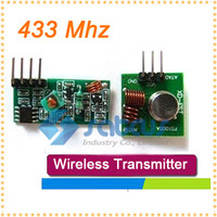 Wholesale 10pair MHZ Superregeneration Wireless RF Transmitter Module Burglar Alarm and Receiver