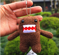 Wholesale Domo Kun Key Chain Domo Kun Plush Doll Toy Keychain inch kids phone keychains