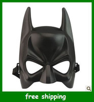 PVC Halloween masks - Black Half face Batman Masks ballo in maschera Halloween Makeup Dance Mask Boys Toys