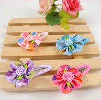 Wholesale Freeshipping New Girls Kids Infant Baby Colorful Rose Hairclips Hairpins Hair Accessories Korean St
