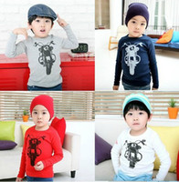 Wholesale 2012 children boys motorcycle long sleeve primer T shirt shirt colour SZ66