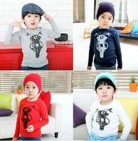motorcycle shirt - 2015 new children boys motorcycle long sleeve primer T shirt kid shirt blue red white SZ66 edison168