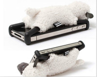 Wholesale Plush Sheep Stand Case D Cartton Toy Holder Cover Case for iphone G S Unique Design