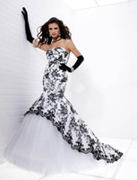 Wholesale 2012 New Black and White Pleats Bridal Bridesmaid Wedding Gown Prom Ball Evening Dress U89